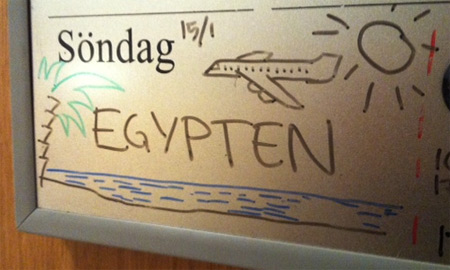 Egypten dekorerades lite.