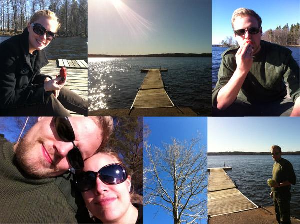 Lugnt och skönt vid sjön.