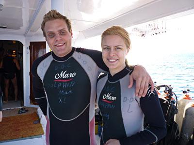 På dykbåten i Egypten.