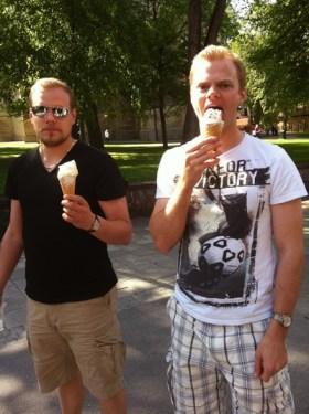 Bosses-glass till efterrätt åts med gusto...