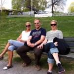 Mamma, L och jag.