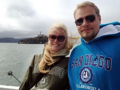 I San Francisco, med Alcatraz i bakgrunden