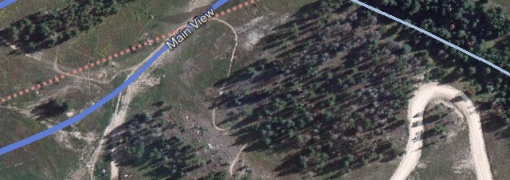 Satellite view of Copper Mountain on Google Maps