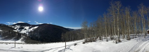 View from the deck at Mamie's top of Bachelor Gulch in Beaver Creek