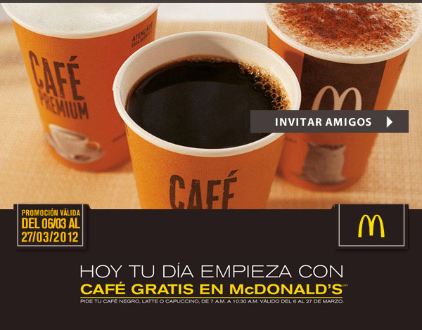 Cafe gratis en McDonald's