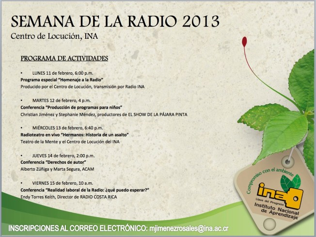 SEMANA DE LA RADIO-INA