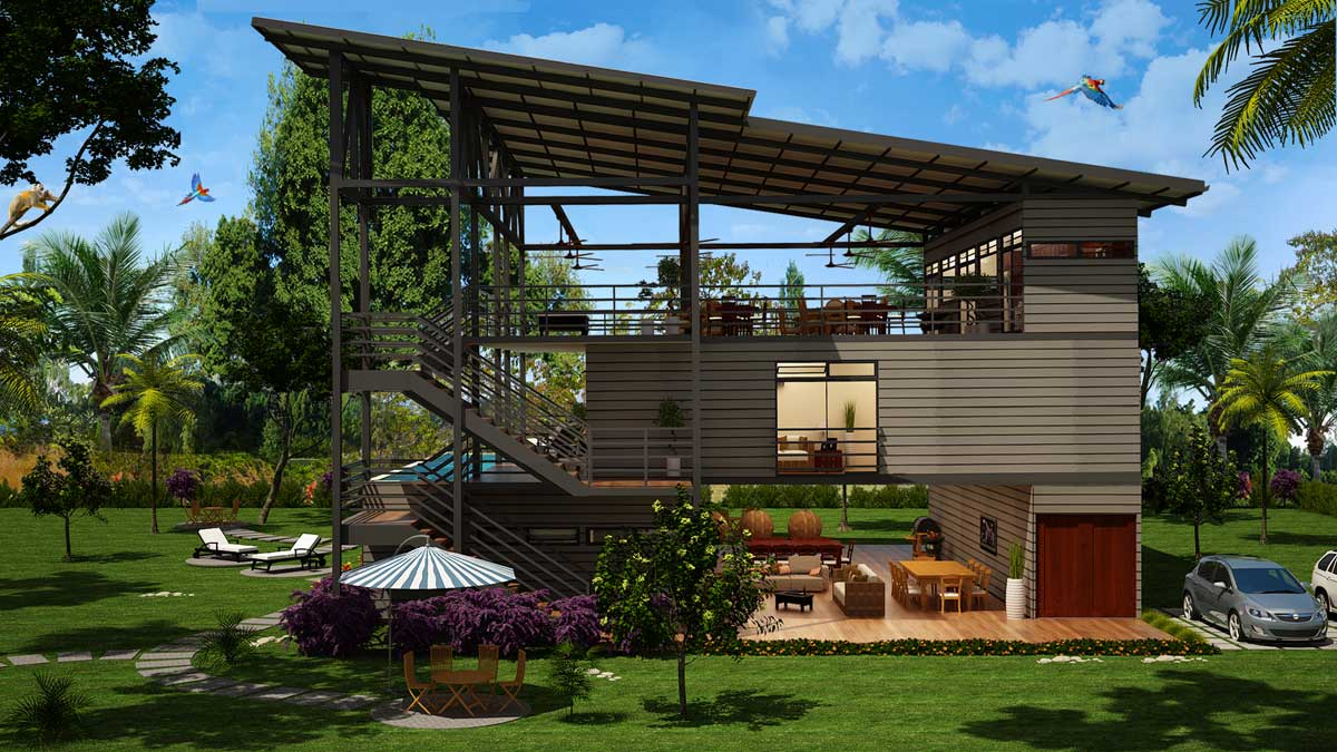 Container Haus Villa Shipping Container Villa Hotel Costa Rica Container Homes In