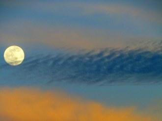 Full moon sunset