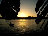 Sunset over Laguna Tortuguero Costa Rica