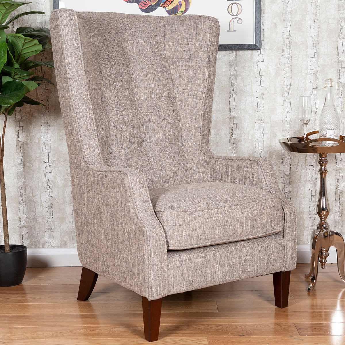 Accent Chairs At Costco Piper Hamilton Beige Fabric Accent Chair Costco Uk
