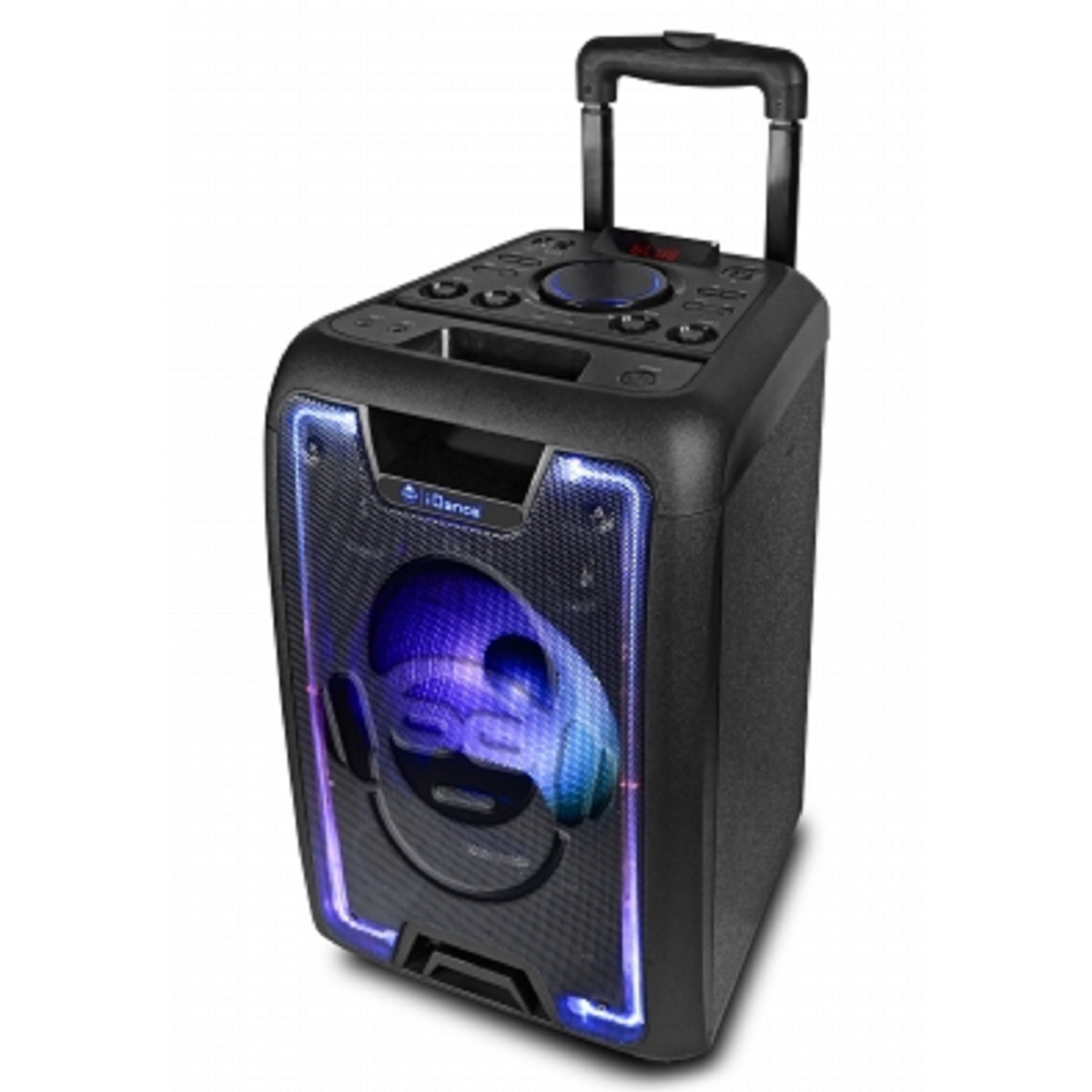 Trolley Lautsprecher Idance Idance Megabox 1000 200w Portable Bluetooth Sound And Light Party System Costco Uk