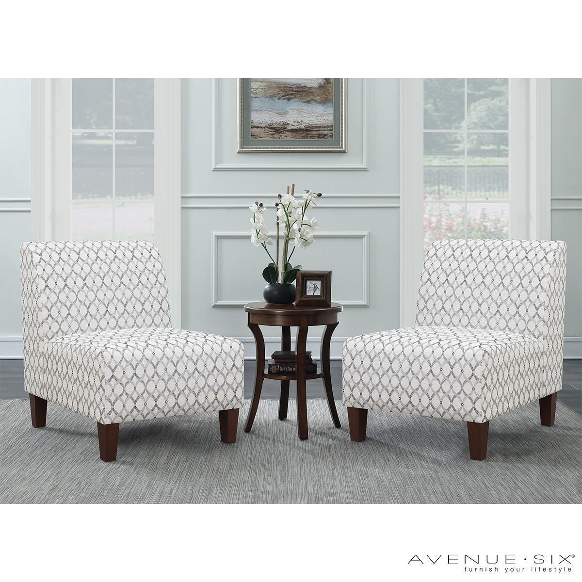 Accent Chairs At Costco Avenue Six 3 Piece Fabric Chair And Accent Table Set Costco Uk