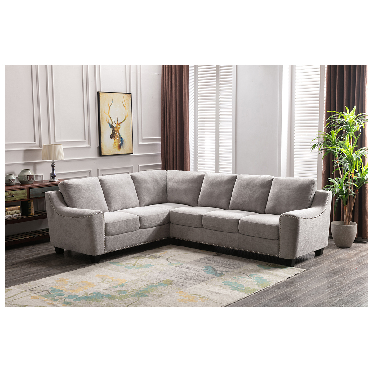 Zoy Home Furnishings Fabric Sectional Costco Australia