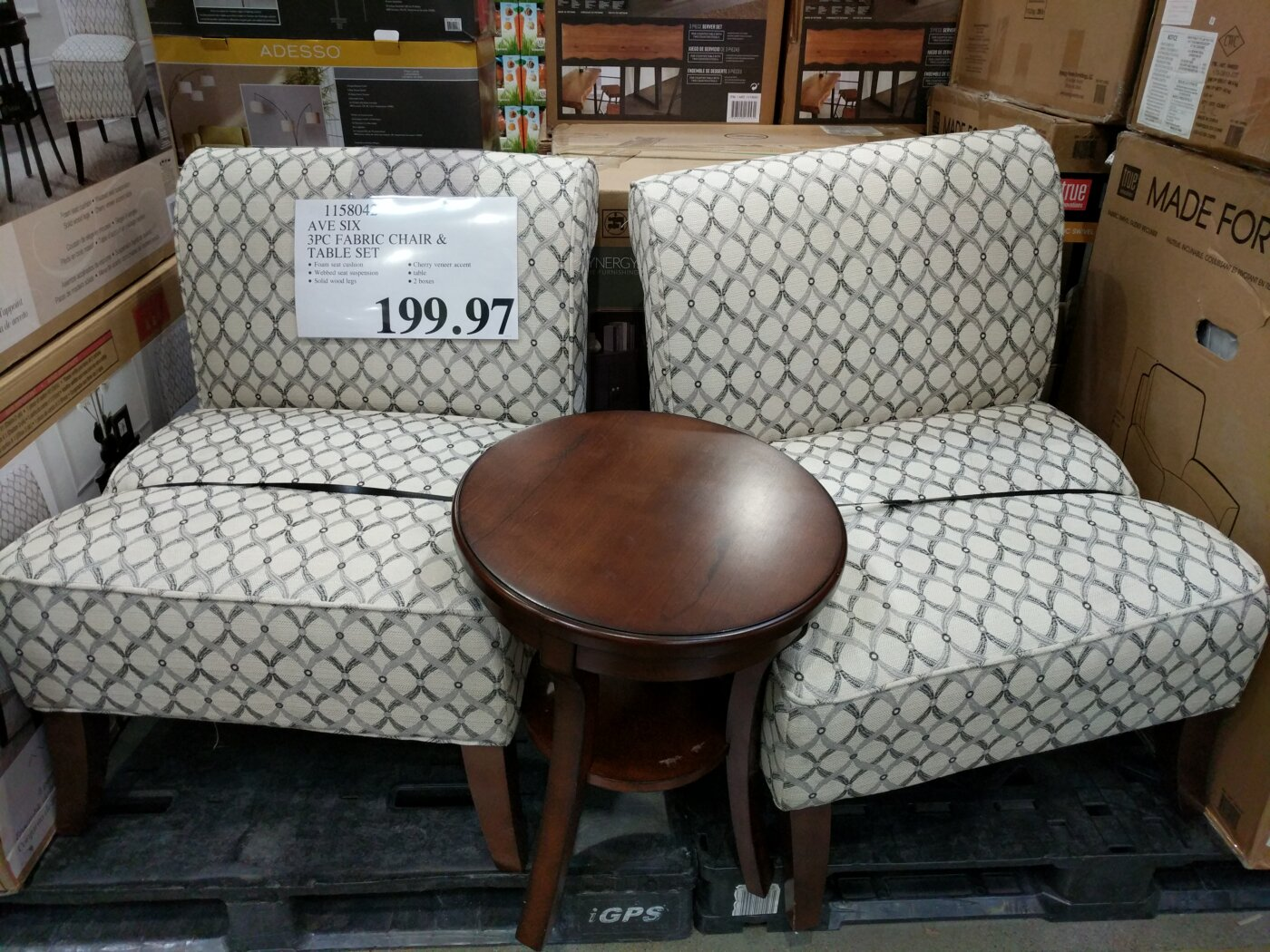 Accent Chairs At Costco Avenue Six 3 Piece Fabric Chair Table Set Costco97