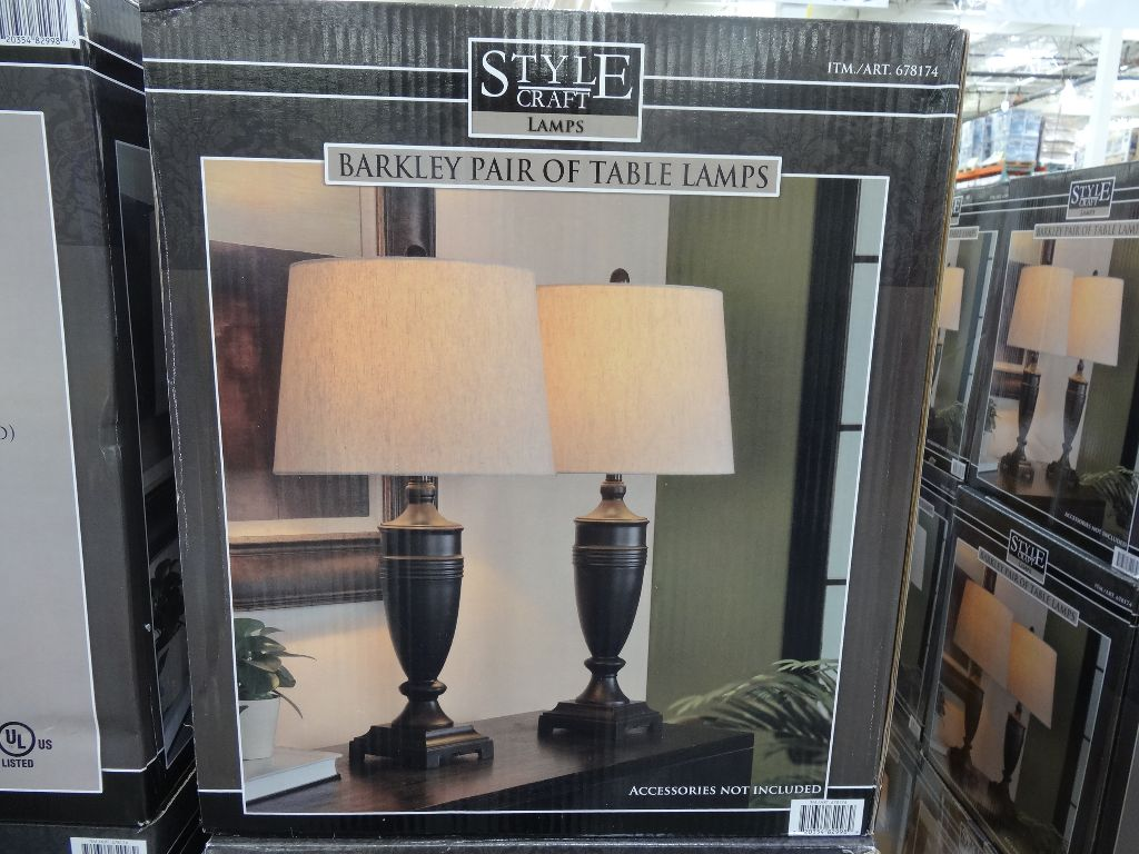 Costco Chandelier Canada Barkley Table Lamps