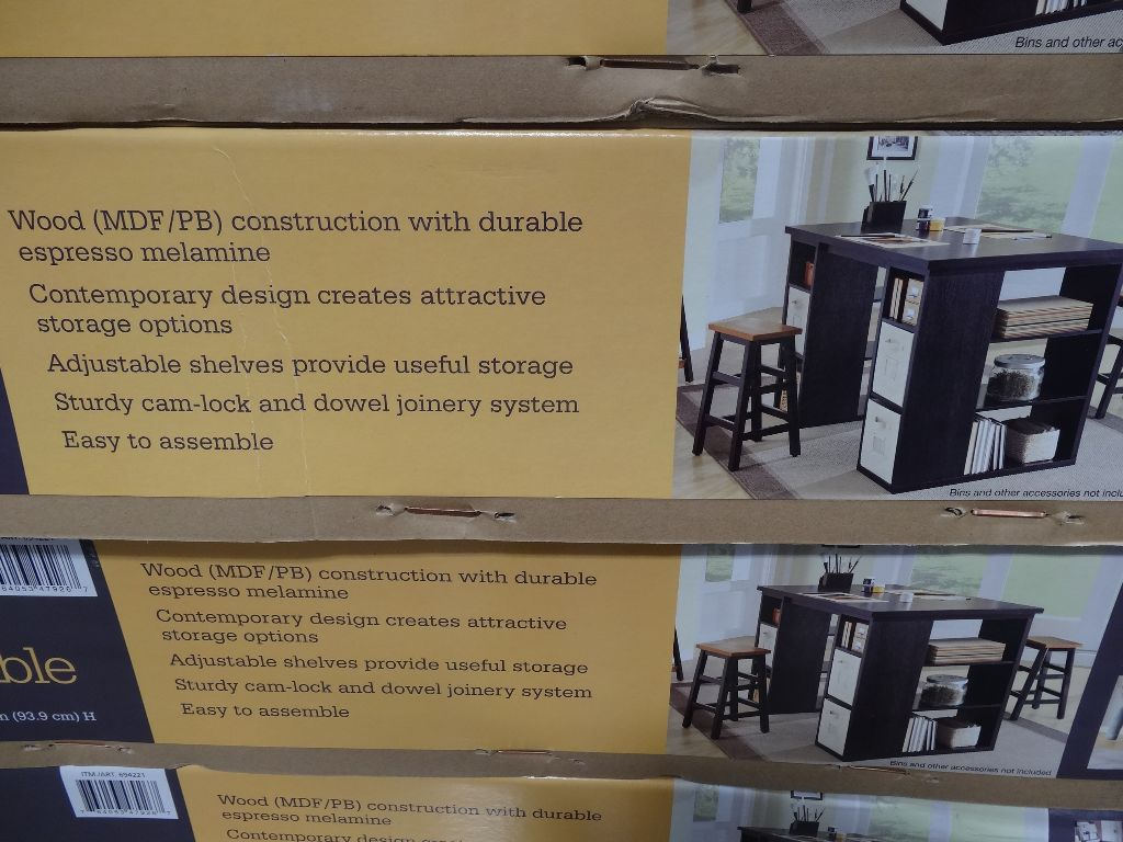 Kitchen Island Cart With Storage Bayside Furnishings Onin Project Table