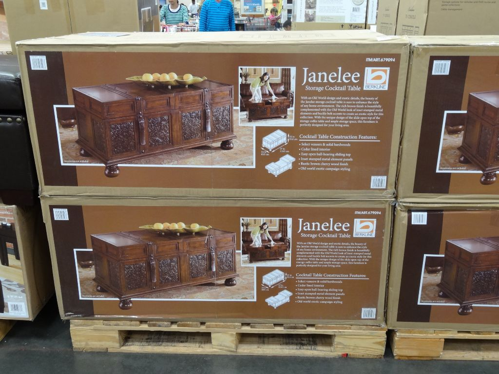 Costco Coffee Table Berkline Janelee Storage Cocktail Table