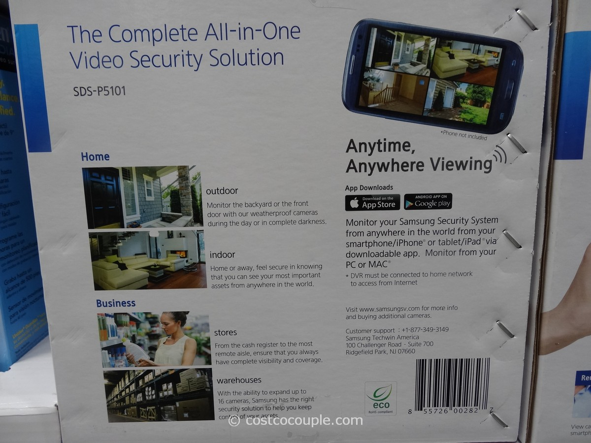 Camera Surveillance Exterieur Costco Samsung 16 Channel 10 Camera Surveillance System
