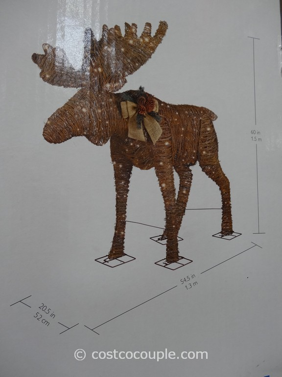 Customer Reviews For 48 In 250 Light Animated Acrylic Moose - moose christmas decorations