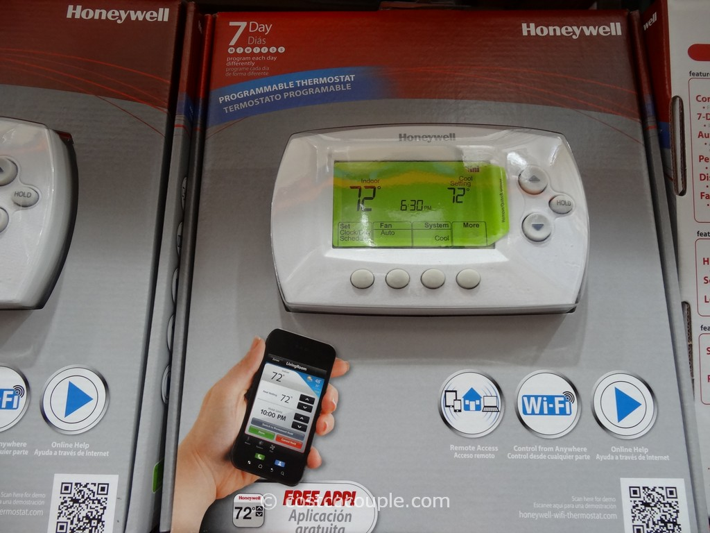 Honeywell Programmable Thermostat Honeywell Wifi 7 Day Programmable Thermostat