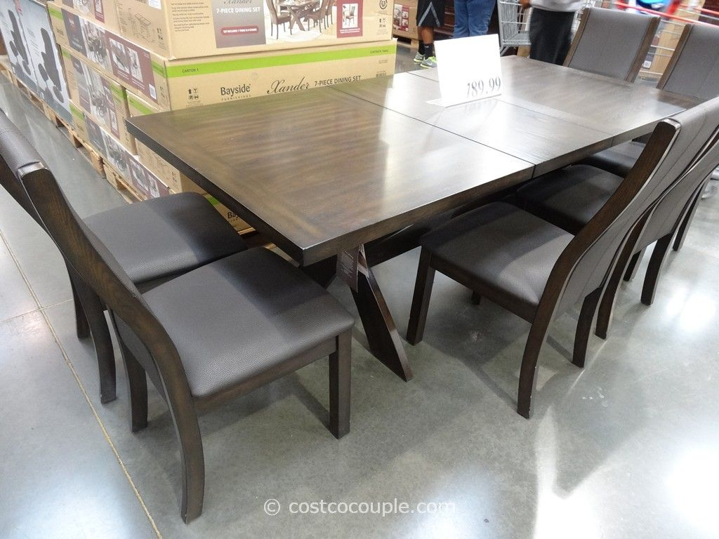 Costco Dining Set Bayside Furnishings Xander 7 Piece Dining Set