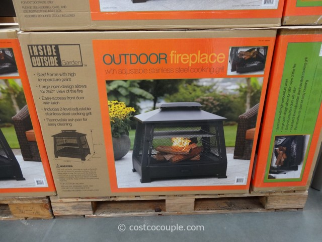 Store Exterieur Costco Outdoor Fireplace With Cooking Grate