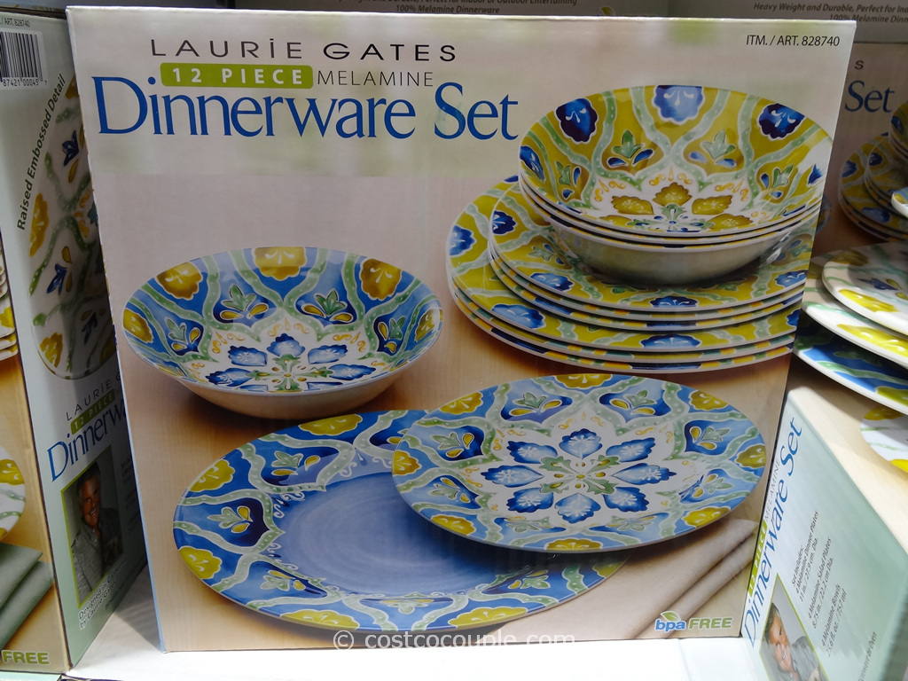 Gas Grill Laurie Gates 12-piece Melamine Dinnerware Set