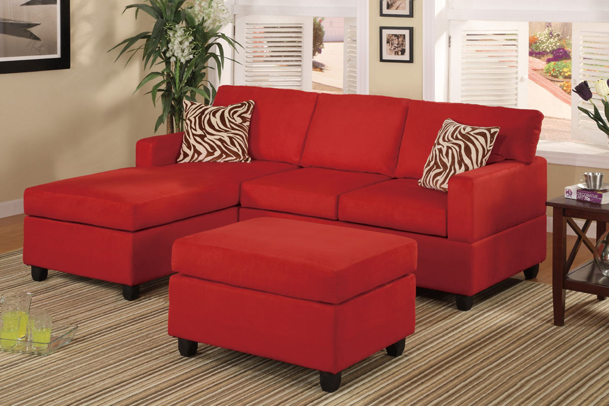 Cheap Sofa Sets Red Sectional With Ottoman Accent Pillows Sofa Set
