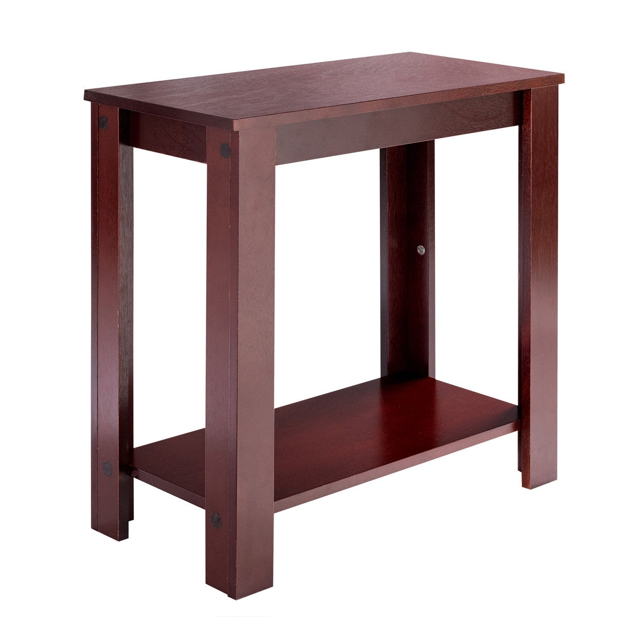 Settee End Table Espresso Wooden Sofa End Table Side Table