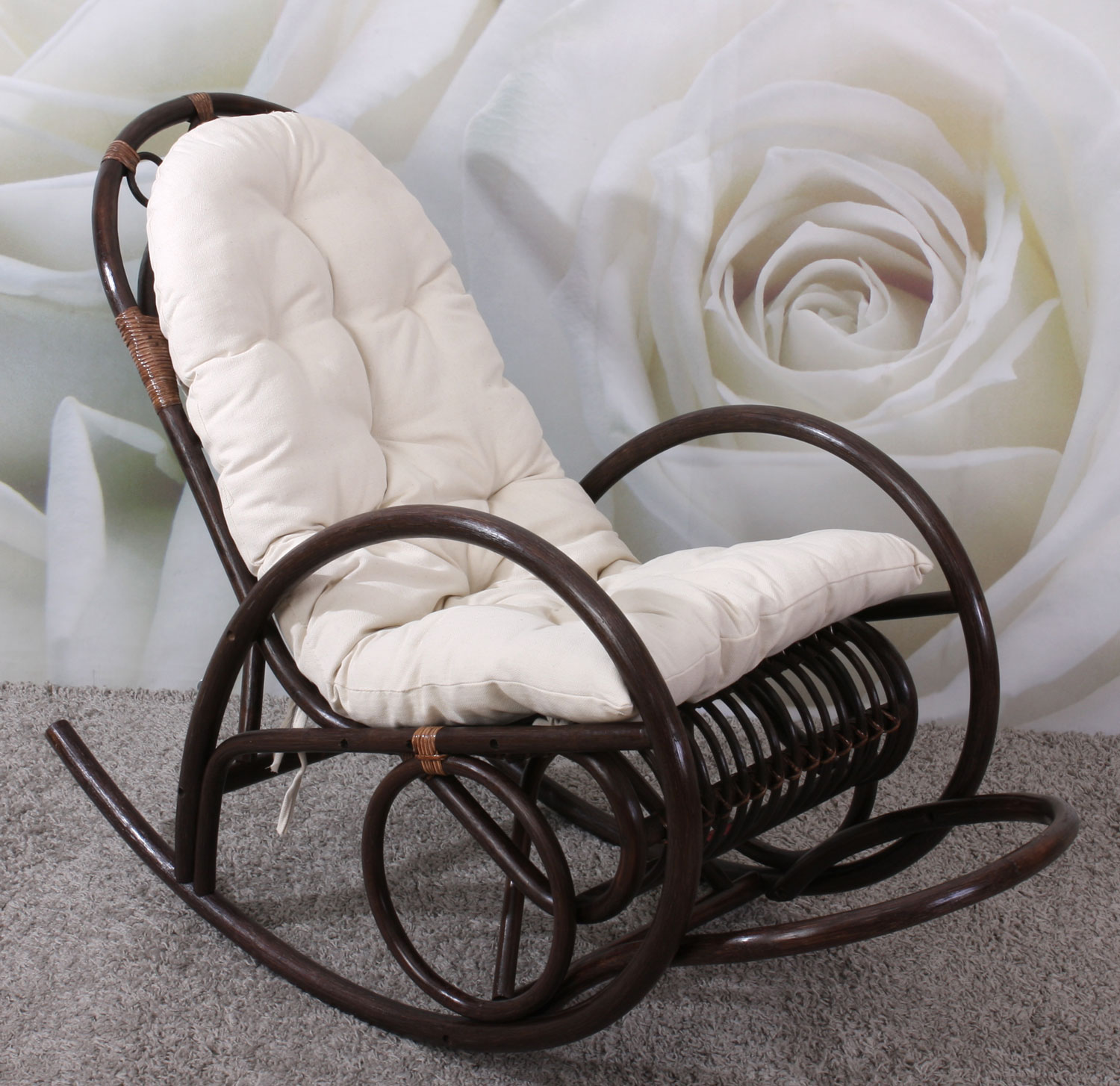 Chaise Moins Cher Rocking Chair Daisy Avec Coussin Microfibre Rockgch-daisy