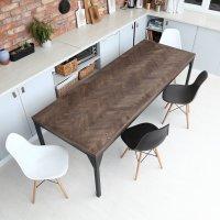 Oak Herringbone Contemporary Table | cosywood.co.uk