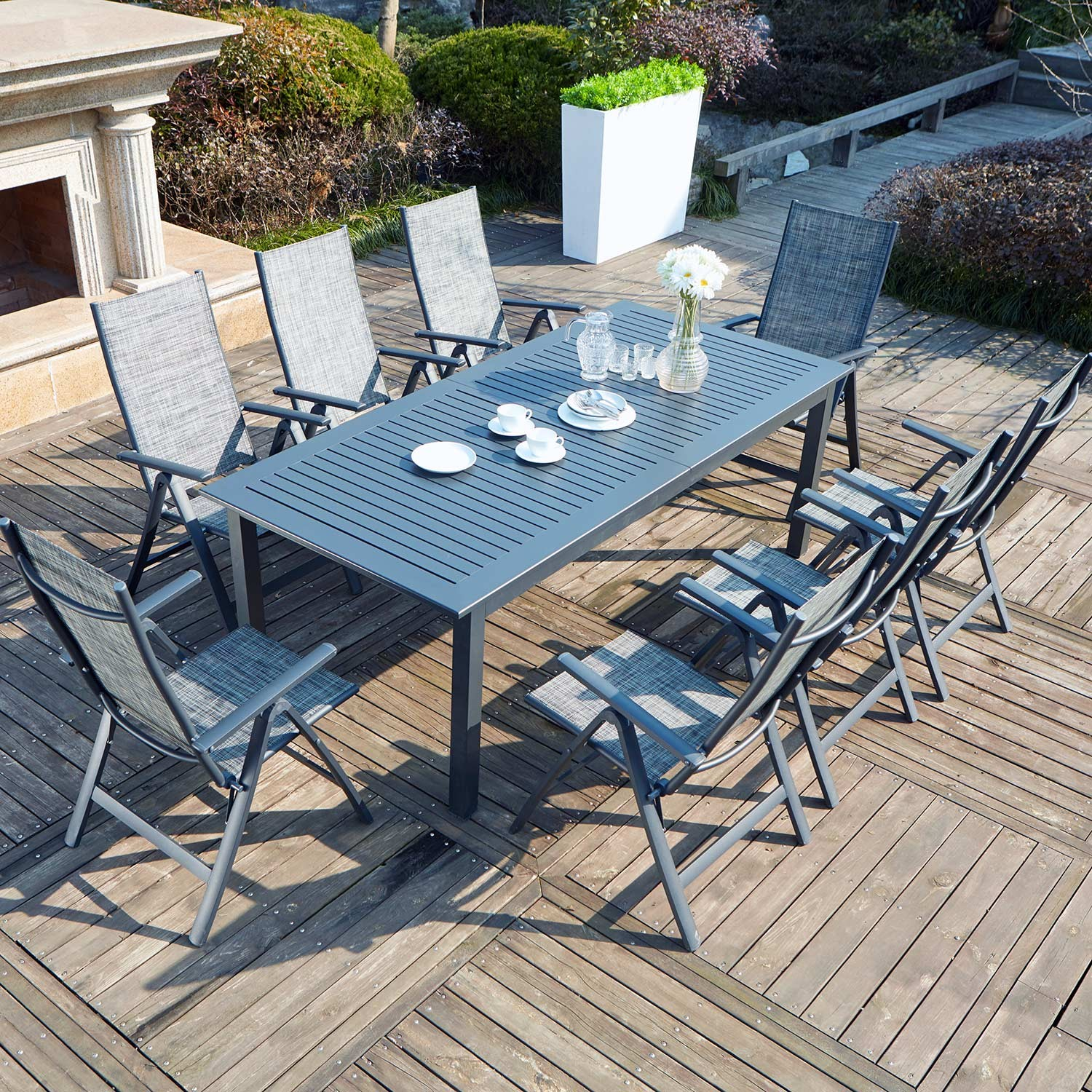 Table De Jardin 8 Chaises Dallia 8