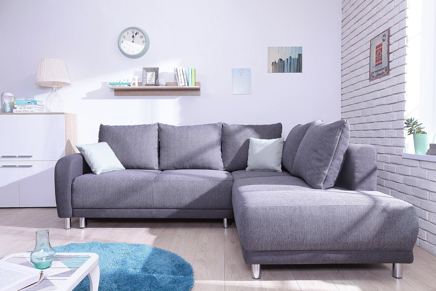 Canapé Convertible Scandinave Minty Grand Angle Droit Canapé Convertible Scandinave Bobochic Bicolore Gris Anthracite