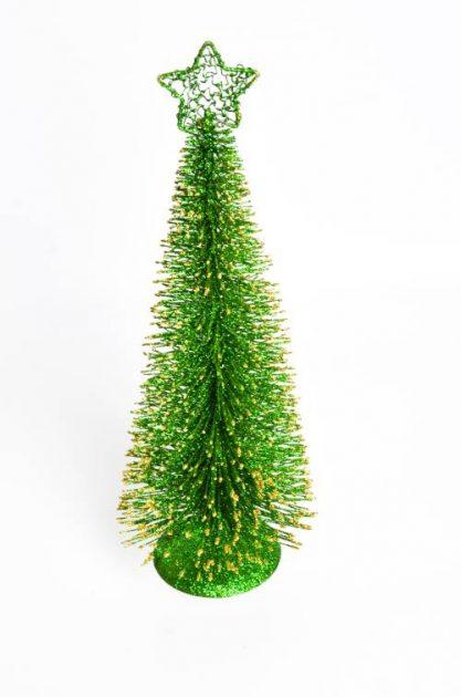 Arbol Alambre Grande Verde con Dorado 40 cm