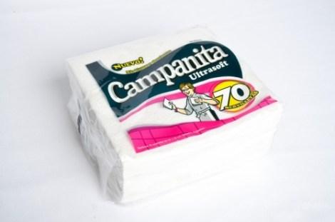 Servilletas blancas Campanita