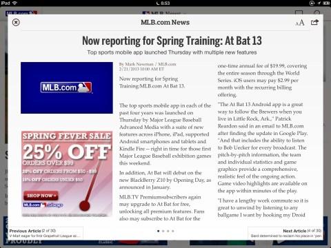 At Bat 13 Spring Traning