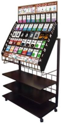 プリペイド式カード什器