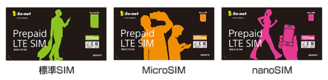 So-net Prepaid LTE SIM