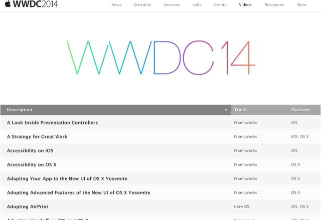 Apple WWDC 2014 セッションビデオ