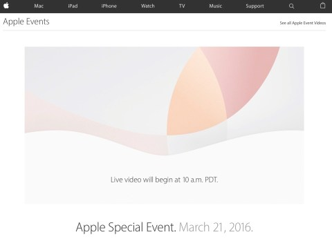 Apple Special Event March 21, 2016