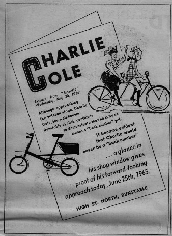 Charlie Cole's Dunstable Cycle Shop