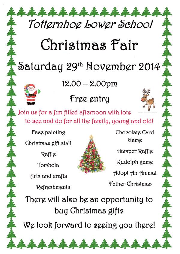Totternhoe Lower School Christmas Fair