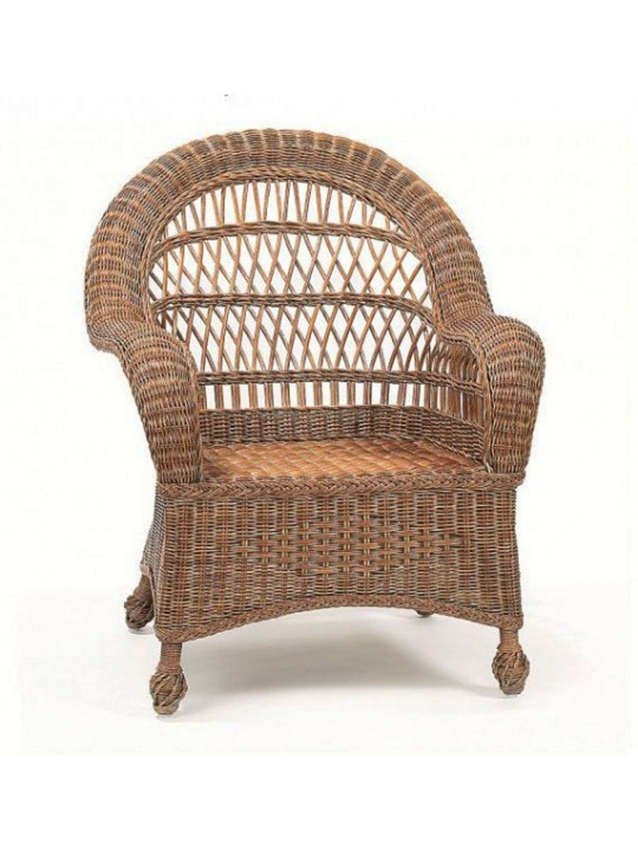 Rattan Rollo Outer Banks Wicker Club Chair Cottage Home