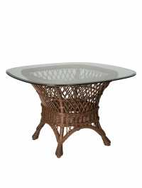 Savannah Wicker Dining Table Base | Cottage Home