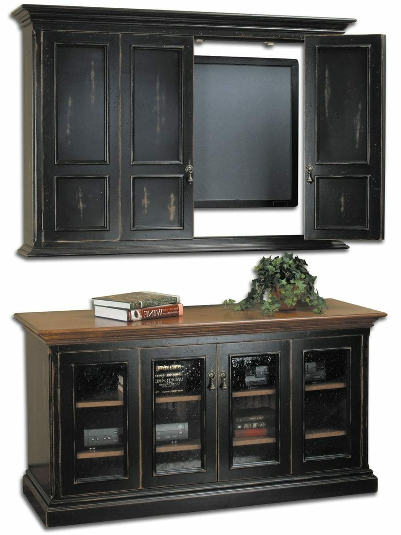 Hillsboro Flat Screen Tv Wall Cabinet Console Cottage - Tv Sideboard