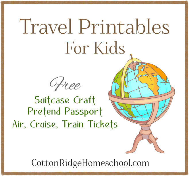 We\u0027re Going On A Trip! Free Travel Printables ~ Suitcase Craft - free passport template for kids