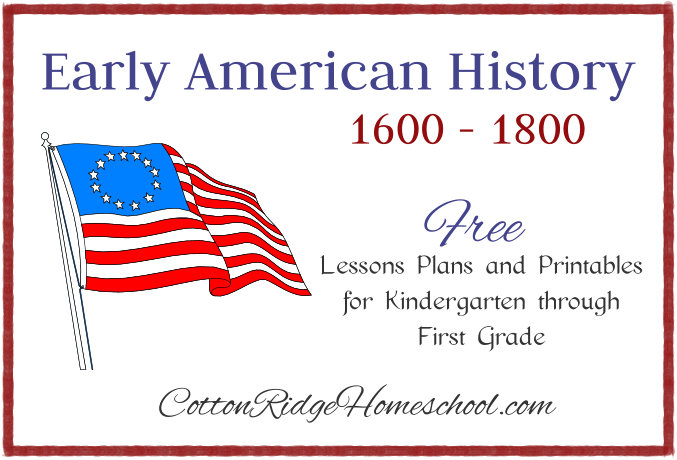 Early American History ~ Timeline Folders and Poster with Free