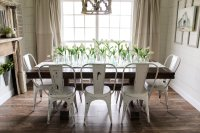 91+ Farmhouse Table With Metal Chairs - Tufted Dining Room ...
