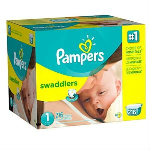 Couches Pampers Swaddlers taille 1 boîte économique