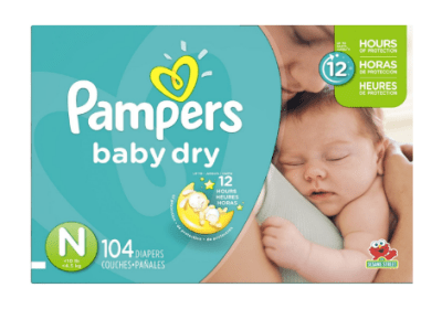 Couches Pampers Baby Dry taille N